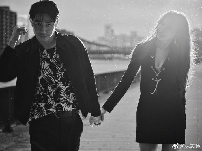 林志玲庆与AKIRA结婚两周年  晒两人黑白大片画面恩爱