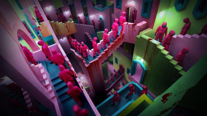 《鱿鱼游戏》曝光幕后制作特辑,详解6个游戏场景如何设计、如何拍摄